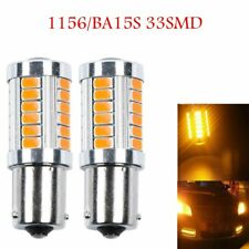 2x 1156 BA15S PY21W 33SMD Yellow Car LED Turn Signal Backup Reverse Bulb Light