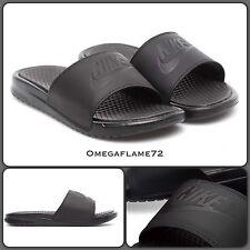 Nike Benassi controles deslizantes Ultra Prem Negro Cuero 818741-001 UK 5.5 EU 38.5 Sandalias