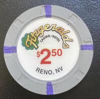 $2.50 Casino Poker Chip Fitzgeralds Casino/Hotel Reno, NV 2000 Paulson H&C Mint