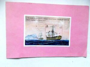 GIBRALTAR: 2005 USED COMMEMS Trafalgar Bicenty £2 sheet VFU MS1124