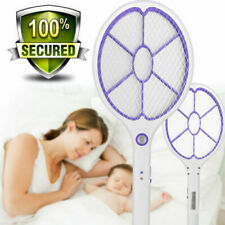 Rechargeable Electric Racket Mosquito Swatter Bug Pest Insect Fly Zapper Killer