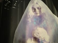 New ANIMATED HAUNTED Cemetery GHOST BRIDE Talking PROP Glows Sways Grandinroad