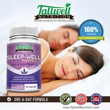 Tallwell Sleep-Well Formula - Get Deep Restful Sleep w/Relaxing Herbs, Melatonin