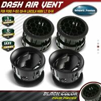 4x Black Dash Heater Air Vent for Ford F-150 Lincoln Mark LT 09-14 9L3Z-19893-AA