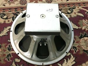 """Vintage CTS 15"""" Speaker 4 ohm Guitar 137 7034 Chrome Dome Ribbed Cone"""