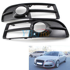 Front Bumper Fog Light Grills PAIR for For Audi A4/S4/B7 Quattro 2005-2008 CO