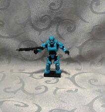 Halo Mega Bloks Charlie Series UNSC Cyan Spartan Soldier Figure - Minifig