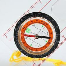 Hot Sale Brand New Orienteering Camping Scout Baseplate Map Compass Ruler E0Xc