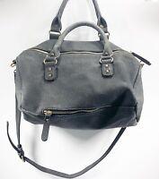 Urban Expressions Certified Vegan Purse Convertible Cross Body Satchel Grey Bag