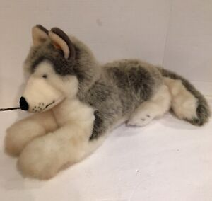 Steiff Wolf Plush American Kennel Club - Large Size , Laying Down