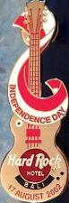 Hard Rock Hotel BALI 2002 INDEPENDENCE DAY PIN Gold Guitar - HRC Catalog #17109