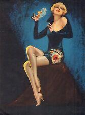 ORIGINAL Art Deco 1930 Charles Gates Sheldon Pinup Print Glorified American Girl