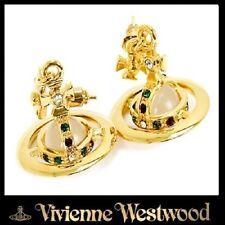 Vivienne Westwood Gold ORB PIERCED EARRINGS GOLD (Necklace,Bracelet)