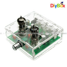 DIY KIT AC 12V 6J1 Valve Pre-amp Tube PreAmplifier Board Headphone Buffer +Case
