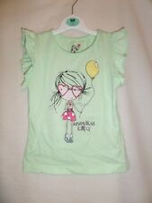 Young Dimension Girls Pale Green Cap Sleeve Blouse 100% Cotton Size 3-4 Years