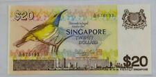 1976 SINGAPORE $20 Bird Series UNC [P-12] Last Prefix A/80 & 顺子头