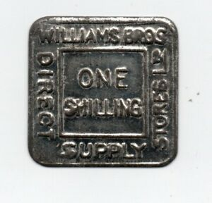 Williams Bro direct supply stores Ltd 1/- Trade Token London Grocery Store Coin
