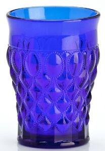 Tumbler - Elizabeth Pattern - Mosser USA - Cobalt Blue Glass