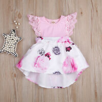 Toddler Infant Baby Girls Dress Floral Lace Princess Dress Outfits Clothes