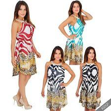 Ärmellose knielange Damenkleider im Tuniken-Stil