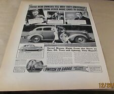 "Old Ad-<10""x14"">[Automobile]--[1937]--DODGE---<CHRYSLER CORP.>"