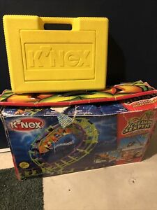 "K'NEX ""Screaming Serpent"" Roller Coaster Building Set plus Carry Case w/extras"