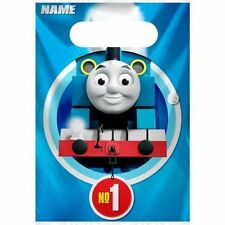 Thomas the Tank Engine Birthday Party 8 Loot Bags Boys Blue Trains Percy Kids