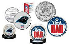 Best Dad - CAROLINA PANTHERS 2-Coin Set Quarter & JFK Half Dollar NFL LICENSED