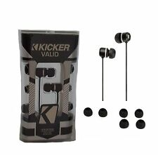 Kicker Earbuds w/ Noise Isolation Lightweight Headphones Four Tip Sizes In Ear