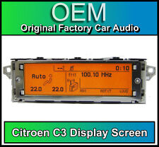 CITROEN C3 pantalla de visualización, radio RD4 LCD Multi función Reloj Dash