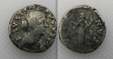 Collectable Denarius Faustina II Roman Silver Coin - Venus Standing Left