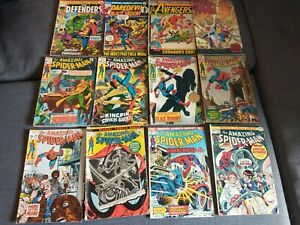 """Assorted Marvel Comic Books Including Multiple """"The Amazing Spider-Man"""" ca 1960s"""