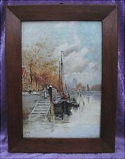 Altes Ölgemälde Ansicht in Dordrecht von 1900 oude schilderijen Holland