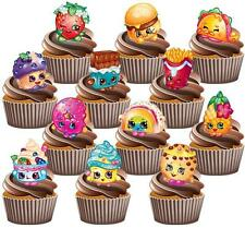 Shopkins 12 Pack Cake Toppers Wafer Card Popular Birthday Decorations Kids Cute