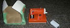 Small Childs Miniature Sewing Machine Japan Retro W/Box Works!!