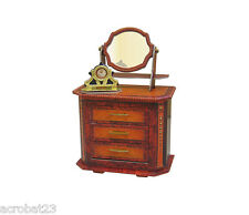Furniture for Dolls COMMODE CHEST OF DRAWERS Dollhouse Miniature Scale 1:12 Kit