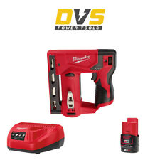 Milwaukee M12BST-0 Cordless 12V Crown Stapler with 2Ah Battery and Charger