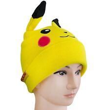 Pokemon Pikachu Cuff Knit Beanie Hat with Gloves