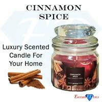 Home Fragrance Scented Candle Jar Cinnamon Spice Long Lasting Rich Scent