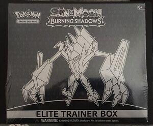 Burning Shadows Elite Trainer Box Necrozma Pokemon Cards Packs 2017 NEW SEALED
