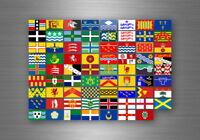 Planche autocollant sticker drapeaux region province anglais royaume uni uk