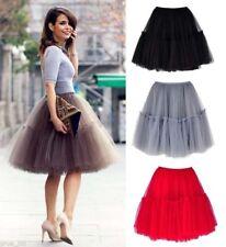 newWomen Girls 6 layer Tutu Skirt Tulle Skirts Adult Tutu Prom Ball Short skirts