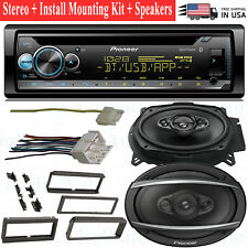 Pioneer CD Receiver Stereo Dash Harness Install Mounting Kit Car Radio + Speaker