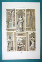 RENAISSANCE Manuscripts Architecture Miniatures - COLOR Litho Print by Racinet