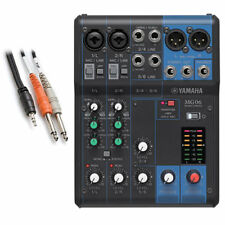 Yamaha MG06 6-Channel Compact Stereo Mixer BONUS PAK