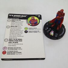 Heroclix Marvel's What If? set TV's Spider-Man #025 Uncommon figure w/card!