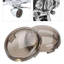 2x Smoke Lens Turn Signal Light Cover Lens for Harley Davidson Dyna Sportster