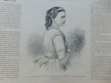 1869 UI PRINCESSE ROUMANIE ELISABETH DE WIED ECRIVAIN