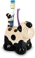 2Kewt Cat Ceramic Toothbrush Holder