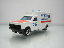 Diecast Majorette Ambulance NYC EMS No. 255 White Very Good Condition
